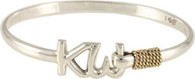 4mm Sterling Silver KW Bracelet with 14kt Wraps