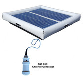 Savior Salt System Pool Chlorine Generator 60-watt Solar Powered 30000 Gallon