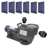 SunRay SolFlo1 - 1 1/2 HP DC - 6 Solar Panels 1.5Kw Filter Pool Pump Systems 85GPM 35FT Head 180VDC Brush Type Motor Complete