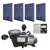 SunRay SolFlo2 - 4 Solar Panels 1kW Filter Pump Systems Complete 50GPM 50FT Head 120VDC Brushless Motor