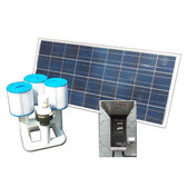Bottom Feeder 120w Solar Pool Pump Filter Cartridge System DD