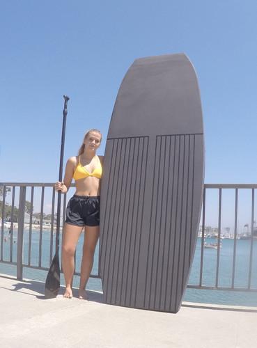 EVA SUP 8.0 Yogi Stand Up Paddle Board - Silver