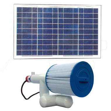 Bottom Feeder 5000 Gallon Pool 30-watt Solar Pump and Filter System