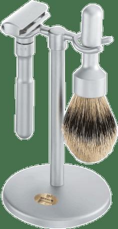 Merkur - 3 pc FUTUR Shave Set, Brushed Finish #782
