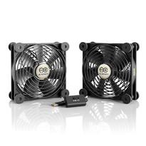 Dual 120mm Quiet USB Fan