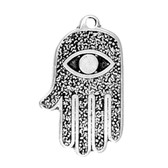 All Seeing Eye Amulet on Recycled Cord Necklace AM01
