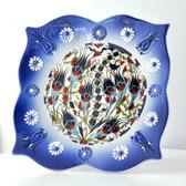 Nimet Lead-Free Deluxe Turkish Porcelain Plate 20cm by Paykoc N82015 Blue