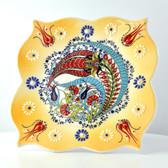 Nimet Lead-Free Deluxe Turkish Porcelain Plate 20cm by Paykoc N82015 Yellow