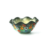 Nimet Scalloped Bowl - 8cm - Green - Front