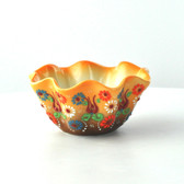 Nimet Scalloped Bowl - 10cm - Yellow - Front