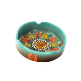 Nimet Deluxe Ashtray - Aqua 10cm - Front
