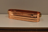 Side profile of copper planter