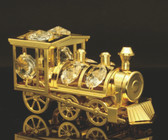 Gold Ornament Locomotive