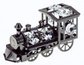 Black Ornament Locomotive