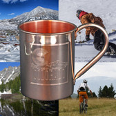 Colorado Mountain 18oz Solid Copper Moscow Mule Mug By Paykoc