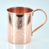 Sugar Skull Third Eye 18oz Solid Copper Moscow Mule Mug By Paykoc