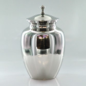 "7"" Urn W/ Nickle Finish Finish"