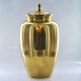 "10"" Urn W/ Antique Brass Finish"
