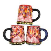 Handmade Nimet Porcelain Beer Steins (Red/Assorted Patterns)