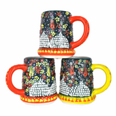Handmade Nimet Porcelain Beer Steins (Green/Assorted Patterns)