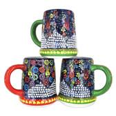 Handmade Nimet Porcelain Beer Steins (Blue/Assorted Patterns)
