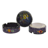 Traditional Turkish Nimet Porcelain Ashtray 8cm Purple