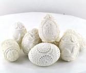 Decorative Hand Carved Meerschaum Egg (Assorted Styles)