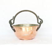 Copper Pot With Iron Handles - Front
