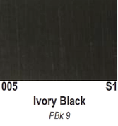 Atlantis Artist Oils - Ivory Black S1