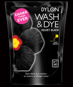 Dylon Wash & Dye Fabric Dye - Velvet Black 400gsm