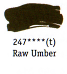 Daler Rowney Georgian Oil - Raw Umber