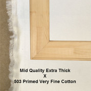 Bespoke: Mid Quality x Universal Primed Very Fine Grain Mixed Weave Cotton Duck 503