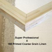 Bespoke: Super Professional x Universal Primed Coarse Grain Linen 168
