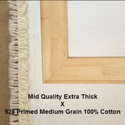 Bespoke: Mid Quality x Universal Primed Medium Grain 100% Cotton Duck 528c