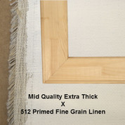 Bespoke: Mid Quality x Universal Primed Fine Grain Linen 512