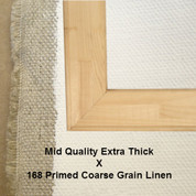 Bespoke: Mid Quality x Universal Primed Coarse Grain Linen 168