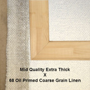 Bespoke: Mid Quality x Oil Primed Coarse Grain Linen 68