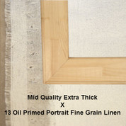 Bespoke: Mid Quality x Oil Primed Portrait Fine Grain Linen 13