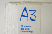 Khadi - Cotton Rag Paper Pack A3 320gsm - White