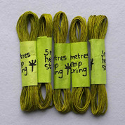 Khadi - Coloured Hemp String 5M - Lime