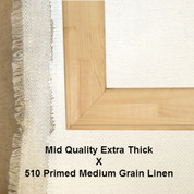 Bespoke: Mid Quality x Universal Primed Medium Grain Linen 510
