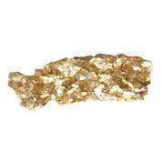 Golden Heavy Body Acrylic - Iridescent Gold Mica Flakes Small S5