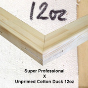 Bespoke: Super Professional x Unprimed Superior Cotton Duck 12oz.