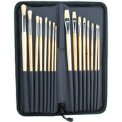 Jakar - Economical Oil & Acrylic Brush Set of 16