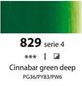 Sennelier Artists Oils - Cinnabar Green Deep S4
