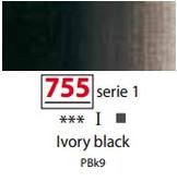 Sennelier Artists Oils - Ivory Black S1