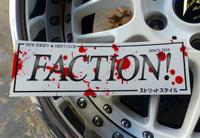 FACTION! New Jersey Drift Club - Blood Splatter Team Sticker