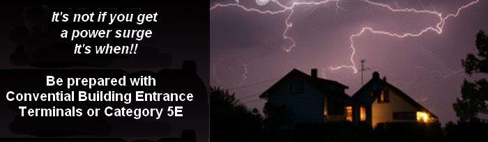 Building Entrance Terminals Protectors Surge Lightning
