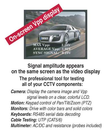 VTX454 CCTV Tester