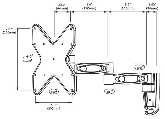 Articulating TV Bracket